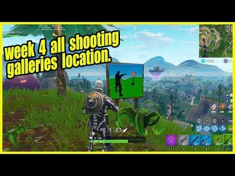 Fortnite Week 4 Challenges Guide Shooting Galleries Location Week