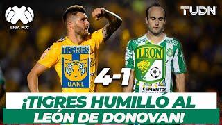 ¡Qué paliza! Tigres destrozó al León y a Donovan I Tigres 4-1 León CL-18 I TUDN