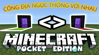 Cách Làm Cánh Cổng Dịch Chuyển Y Chang Server Trong Minecraft PE!!