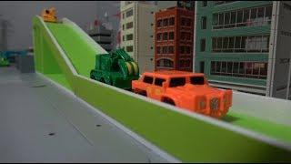 헬로카봇 트랙카 미끄럼틀 장난감 놀이 Hello Carbot Minicar Slide Toys Play