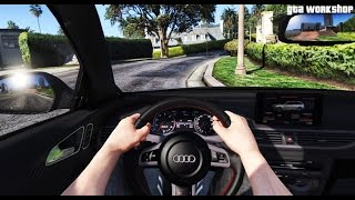 GTA 5 MOD | FIRST PERSON VIEW - Audi RS6 C7 - 2016 | COCKPIT VIEW | ENB PC - 60 FPS
