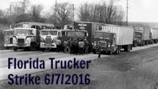Florida Truckers Strike 6/07/2016