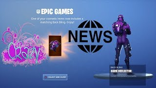 UNLOCKING DARK DEFLECTOR BACKBLING DARK VERTEX (FORTNITE )