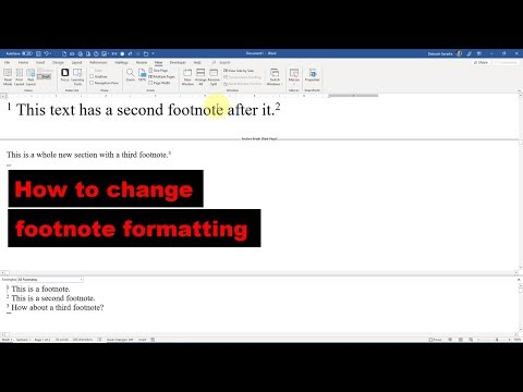 How to edit footnote formatting in Microsoft Word