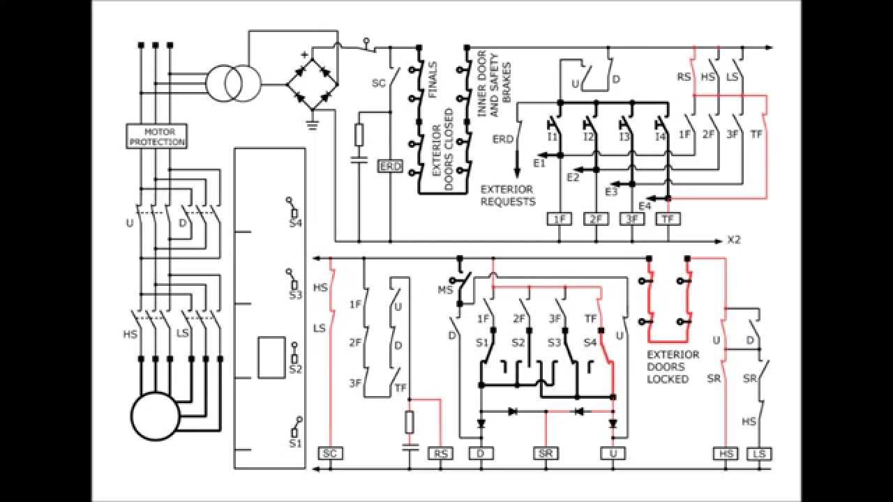 elevator circuit diagram youtube rh youtube com Hydraulic Elevator Schematic Control Diagram elevator electrical schematic