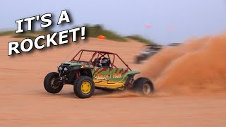 1000HP 2JZ powered Polaris RZR hits the sand at LITTLE SAHARA!