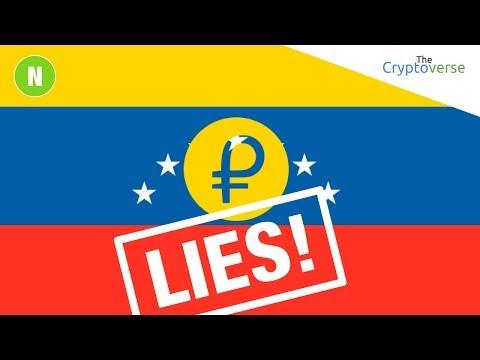 LIES Surrounding The Venezuelan PETRO ICO