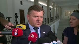 Posiedzenie Sejmu ws. dymisji Marka Kuchcińskiego