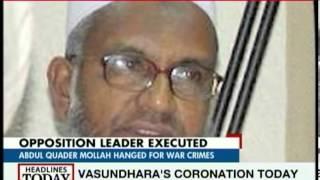 Bangladesh hangs Islamist leader Abdul Quader Mollah