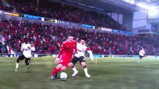 Andy Carroll FIFA 12 falls over