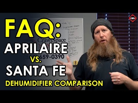 Crawl Space Dehumidifiers | Santa Fe vs  Aprilaire | Best