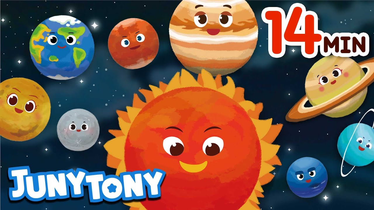 Space Song Compilation | Space & Planets Songs for Kids | Kindergarten Song | JunyTony