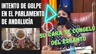 😵💫¡SU CARA LO DICE TODO! Tremendo 👉INCIDENTE en el Parlamento de Andalucía. ¡AÚN NO SE LO CREEN!