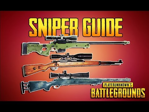 PLAYERUNKNOWN'S BATTLEGROUNDS SNIPER GUIDE! PUBG GUN GUIDE! TrainingGrounds Episode 5! PUBG LIVE!