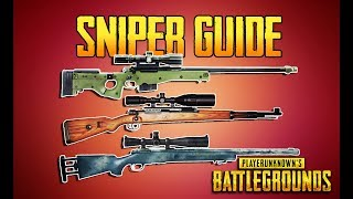 PLAYERUNKNOWN\'S BATTLEGROUNDS SNIPER GUIDE! PUBG GUN GUIDE! TrainingGrounds Episode 5! PUBG LIVE!