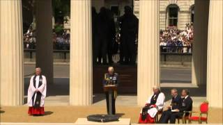 HM The Queen Unveils Bomber Command Memorial - Green Park, London - June 2012