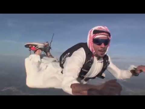 arab skydiver allahu akbar extended HD