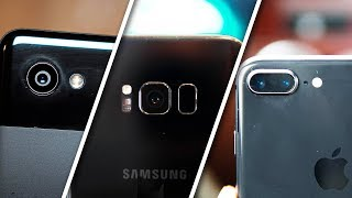 Pixel 2 XL vs Iphone 8 plus vs Galaxy S8 Plus | Cell Phone Blind Test