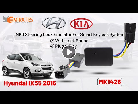 MK3 KIA & Hyundai Steering Lock Emulator For Smart Keyless Key With Lock Sound tested on IX35 -2016