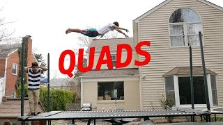 LEARNING INSANE NEW TRAMPOLINE TRICKS (QUADS)
