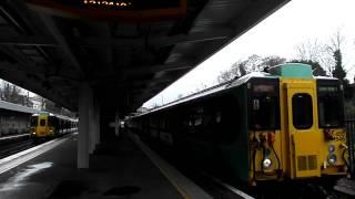 2011.02.13 ウエストクロイドン駅発車風景 London WestCroydon Sta. BR Class455/8 Dep.