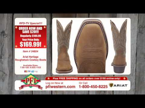 d406f196580 Ariat Heritage Square Toe Roughstock Cowboy Boots
