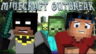 Minecraft Outbreak - Zombie Life Day One with Batman and Minecraft Steve