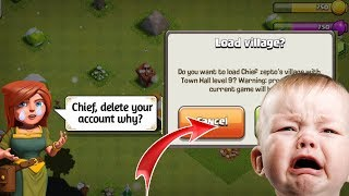 #coc#supercell#lostvillage                                Clash of clans-i delete my TH9 coc account