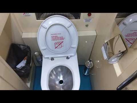 Туалет + душ в фирменном поезде 42/41. Вагон ТКС.