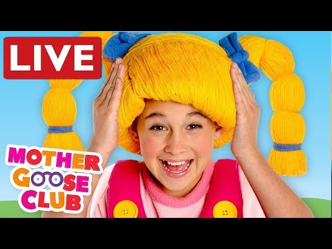LIVE NURSERY RHYMES | Head Shoulder Knees and Toes + Baby Songs by Mother Goose Club | COMPILATION