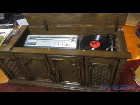 Magnavox BC6766PE01 Stereo Cabinet Repair and Demo - YouTube