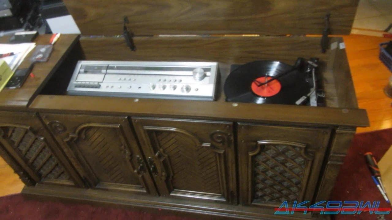 Magnavox BC6766PE01 Stereo Cabinet Repair And Demo