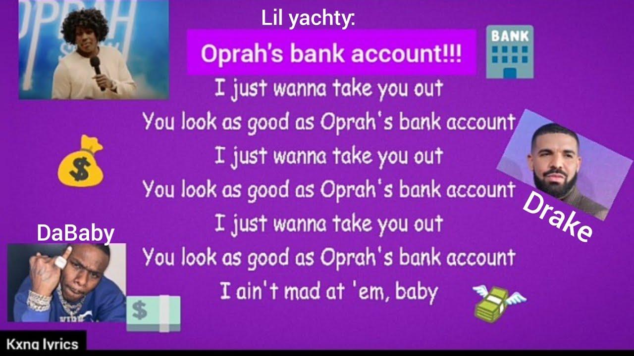 Lil Yachty Oprah S Bank Account Lyrics Karaoke Rap Yourself With Instrumental Ft Dababy Drake Youtube