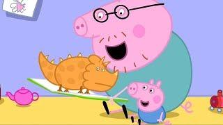Peppa Pig in Hindi 🦖 Daayanaasor Kee Kitaab - हिंदी Kahaniya - Hindi Cartoons for Kids