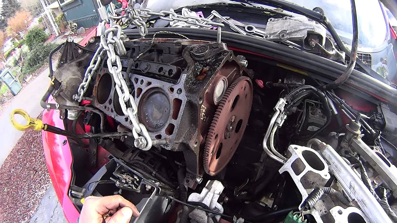 gm 3400 3 4 engine motor removal coming out the top no cradle drop rh youtube com