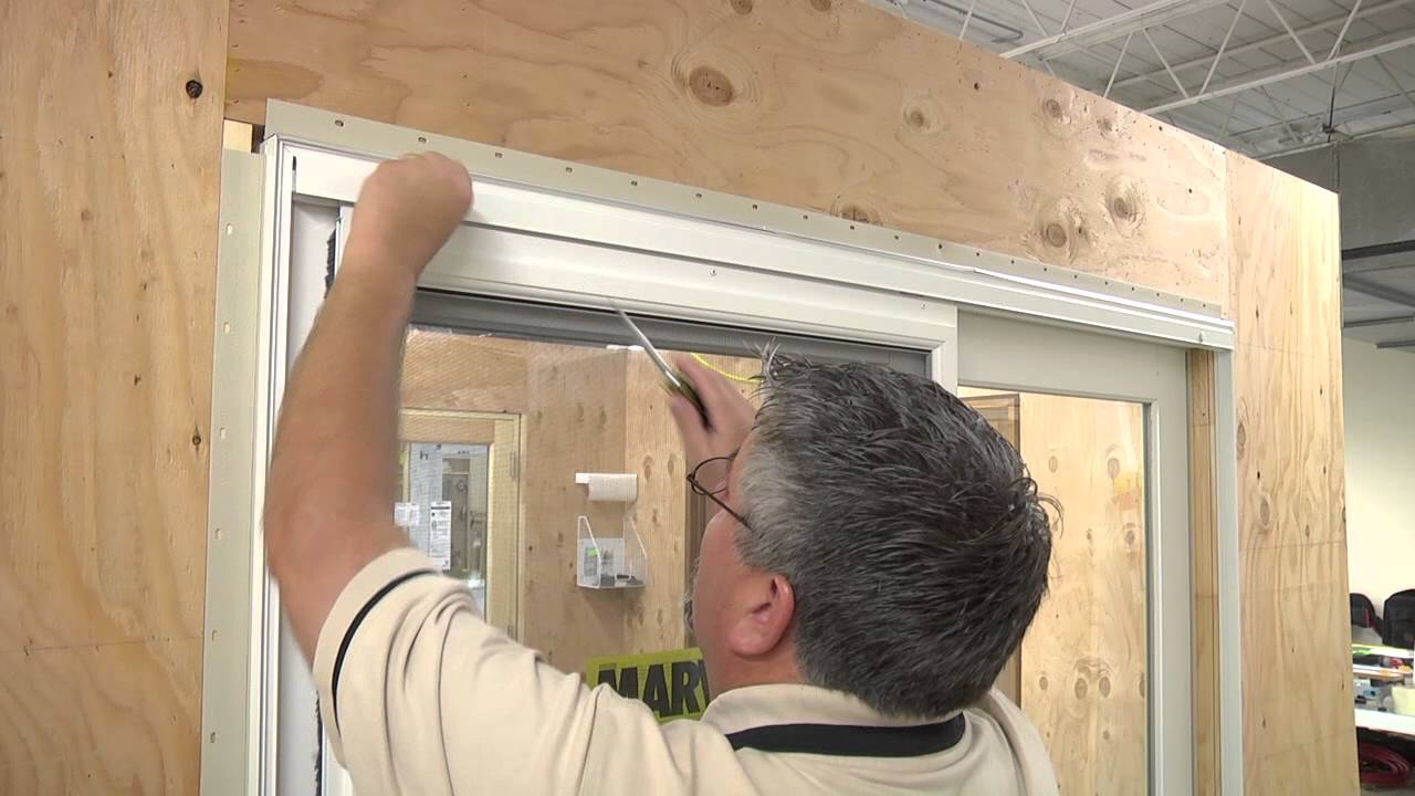 Removing and adjusting the ultimate sliding screen youtube for Marvin sliding screen door