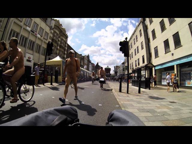 Colchester World Naked Bike Ride 2015