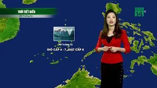 Thời tiết 12h 02/09/2019: Áp thấp có thể mạnh lên thành bão số 5  VTC14