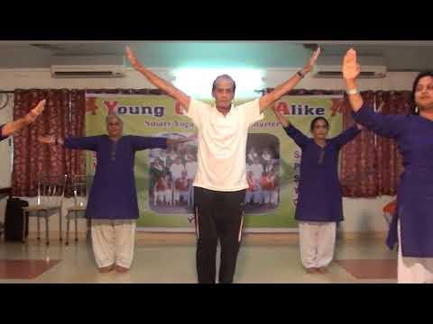 YOGA - CHAIR AND PAIR YOGA  AT SAKET PRANAAM DANCE   M2U02974
