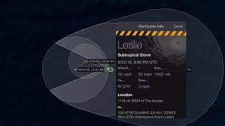Breaking News STS Leslie forms. Kirk expected to move to the Lesser Antilles. And the remnants of 11