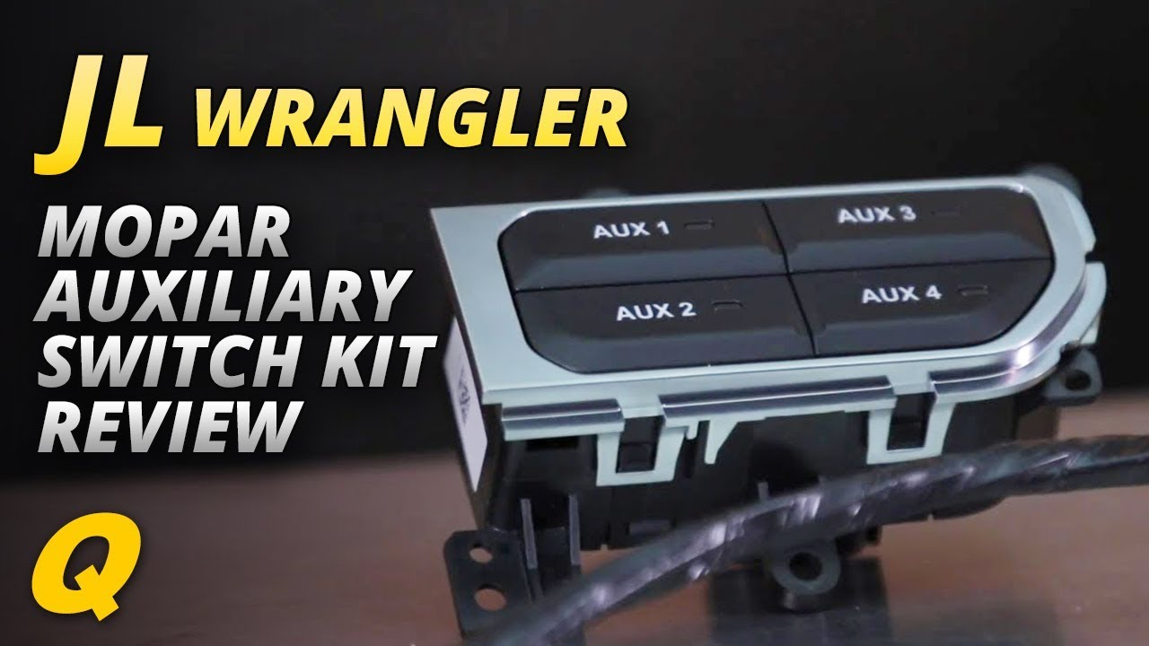 mopar auxiliary switch bank kit for jeep wrangler jl [ 1280 x 720 Pixel ]