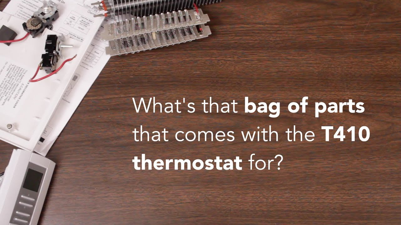 The T410 Thermostat Bag Of Parts Cadet Heat Youtube Wiring A