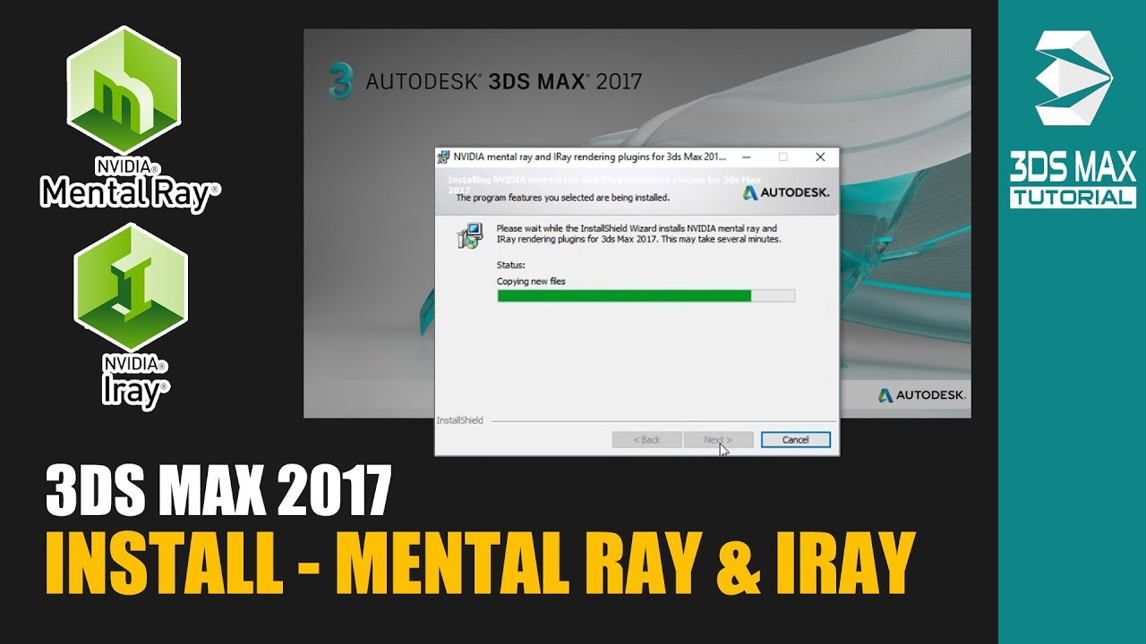 3ds Max 2017 - How to Install Mental Ray and Iray Plugin - YouTube