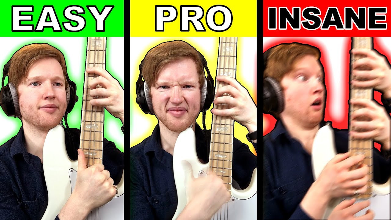(80) TEN LEVELS OF BASS SOLOS - YouTube