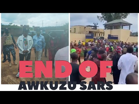 End Of AWKUZU #SARS As Anambra State Governor Finally Visits The Facility- #ENDSARS