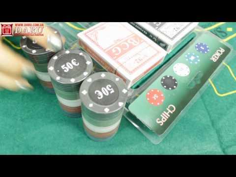 Покерный набор, 100 фишек. Набор для игры в покер в пластиковой упаковке.