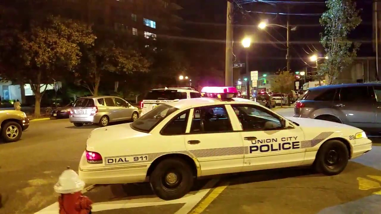 Union City Police Department On Scene Of A Call With An Older Ford In Union  City, New Jersey
