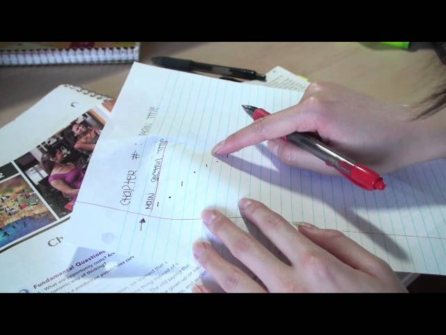 How To; Outline Your Textbook (School & Study Tips) Travel Video