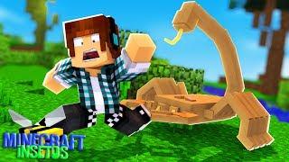 Minecraft Insetos #08 - UM ESCORPIÃO QUASE ME PICOU !!