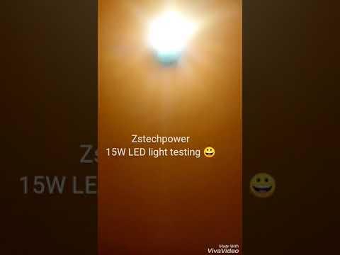 15w LED bulb testing